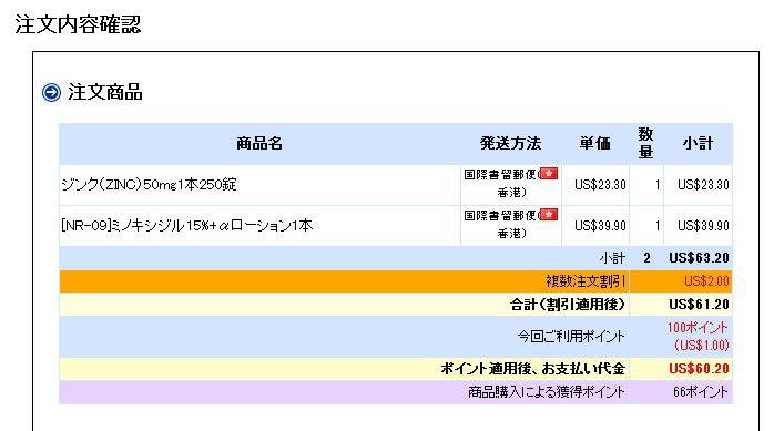 ジンクNR-09オオサカ堂注文