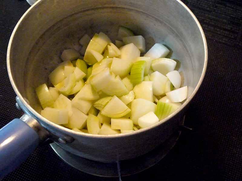 豆乳キムチスープ玉ねぎ